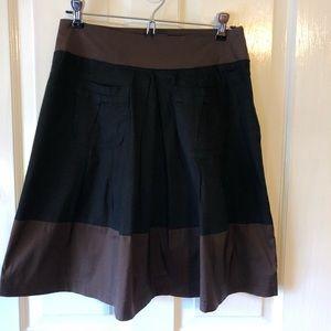 Left of Center for Anthropologie Pleated Skirt